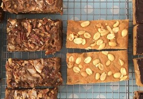 Magical coconut bars and peanut butter bars - vegan
